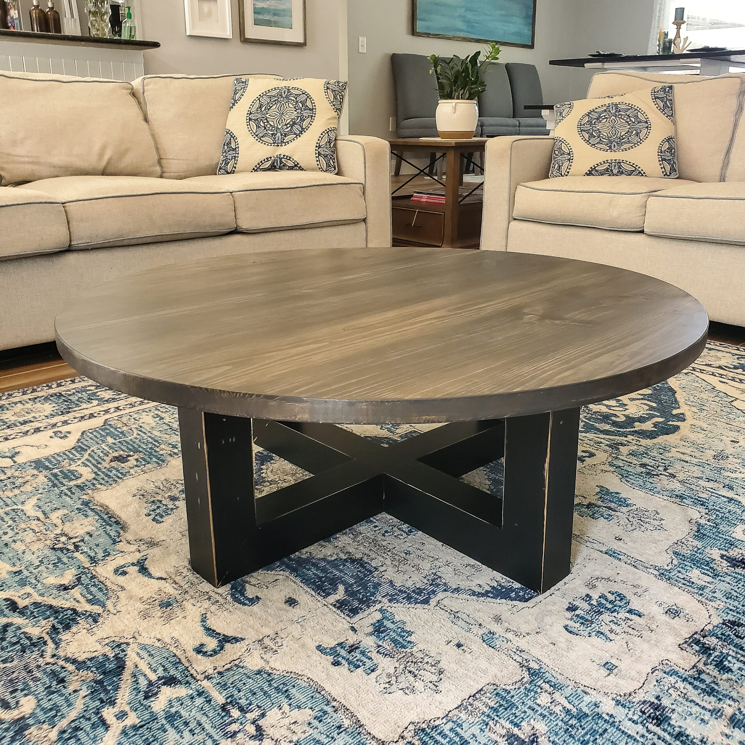 WoodTide Round Coffee Table
